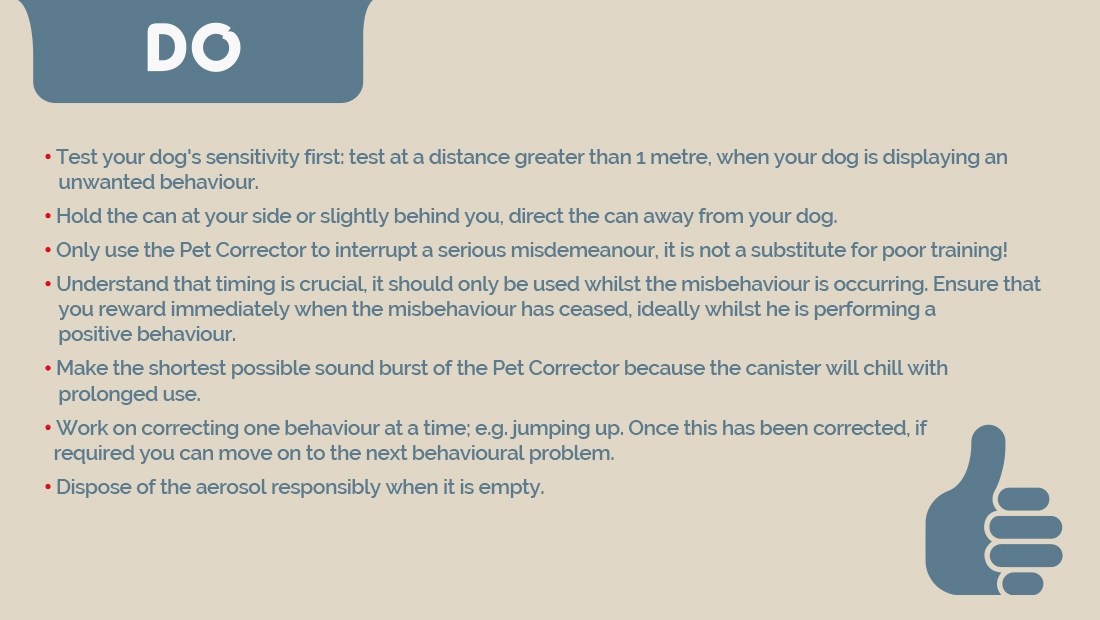 A guide for the correct way to use Pet Corrector