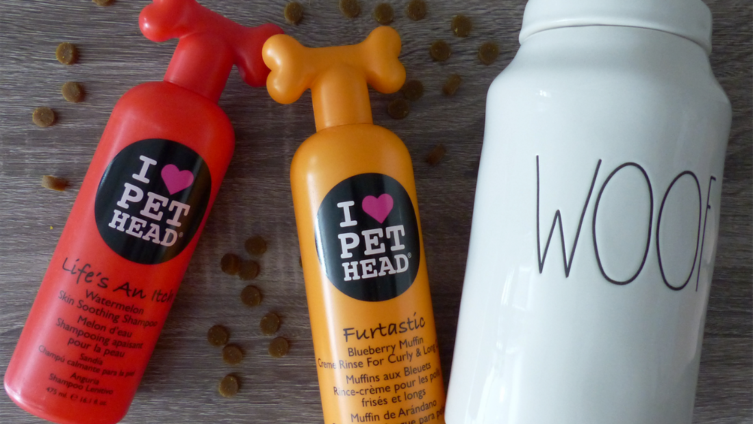 Pet Head products next to some treats