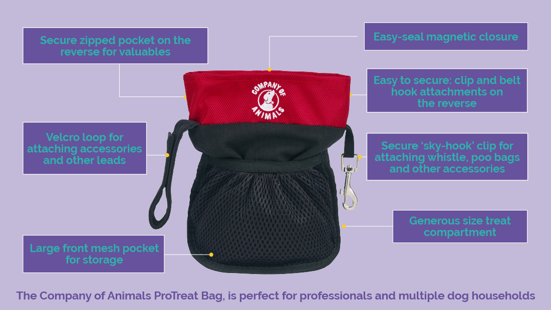 Features of the Company of AnimalsProTreat Bag