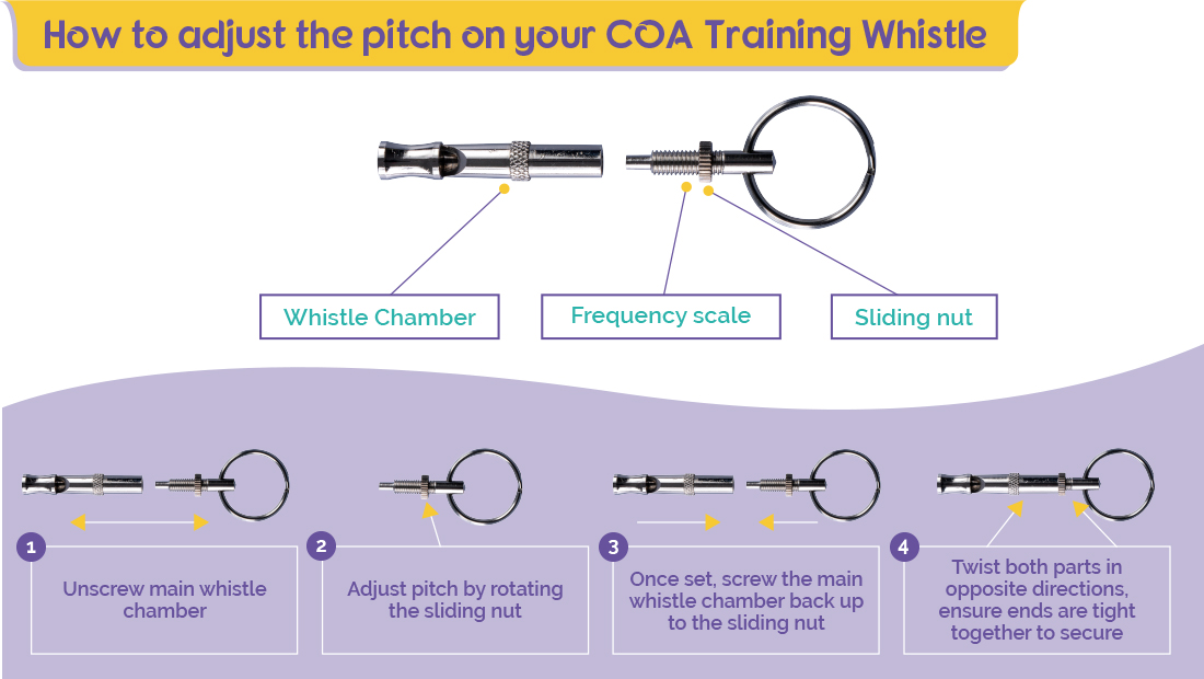 How to guide for adjusting pitch on the Company of Animals Training Whistle